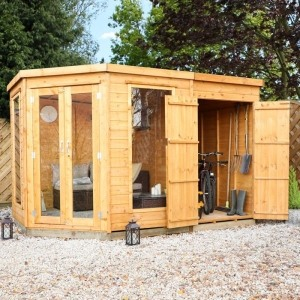 adley chelsea summerhouse with side shed