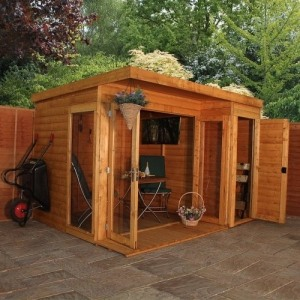 camden garden room with side shed