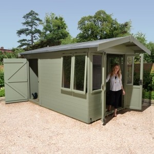 champion summer house with side shed