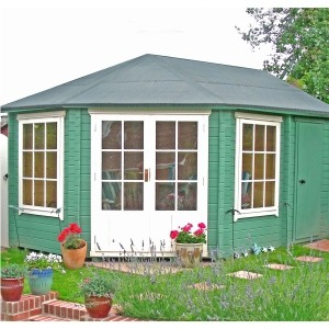 Shire villandy summerhouse with side store